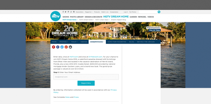 home giveaway 2016 sweepstakes the 20th annual hgtv dream home