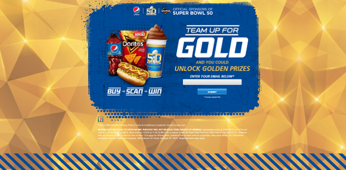 Pepsi And Doritos Team Up For Gold Game at 7-ELEVEN