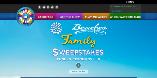 Wheel Of Fortune Beaches Resorts Family Sweepstakes