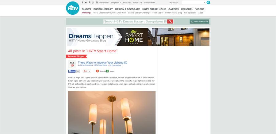hgtv smart home giveaway blog