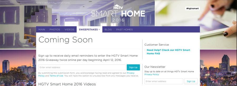 hgtv smart home giveaway reminder - Hgtv Smart Home Sweepstakes