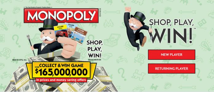 Albertsons monopoly online game code and sweepstakes entry