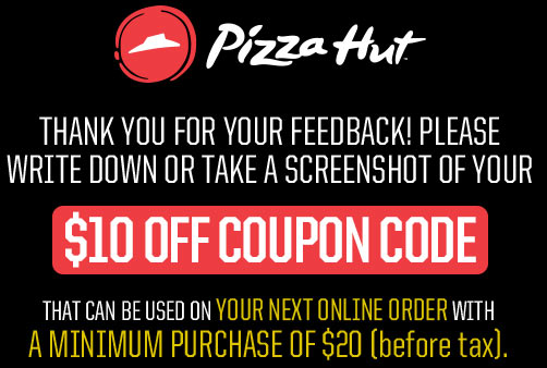 Pizz hut coupon code