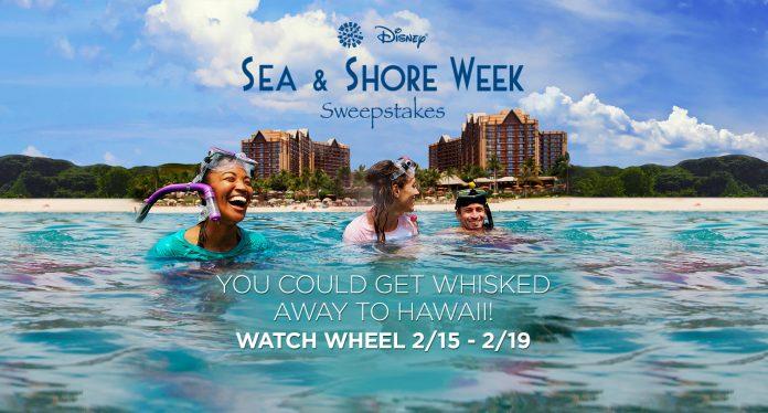 Wheel Of Fortune: Disney Sea & Shore Week Sweepstakes
