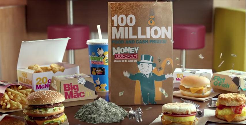 money monopoly at mcdonald u2019s tv commercial
