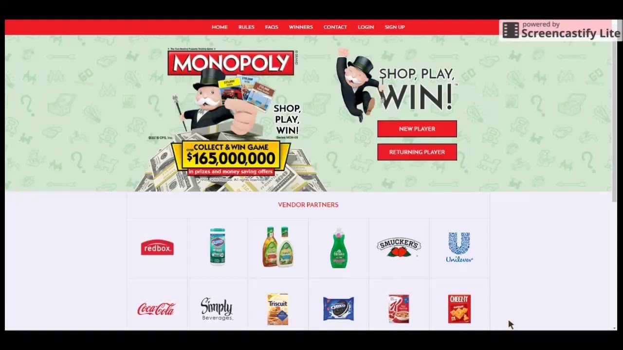 Video Tutorial: How To Register For The Monopoly Game At