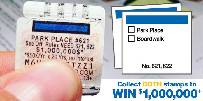 mcdonalds monopoly 2016 park place boardwalk