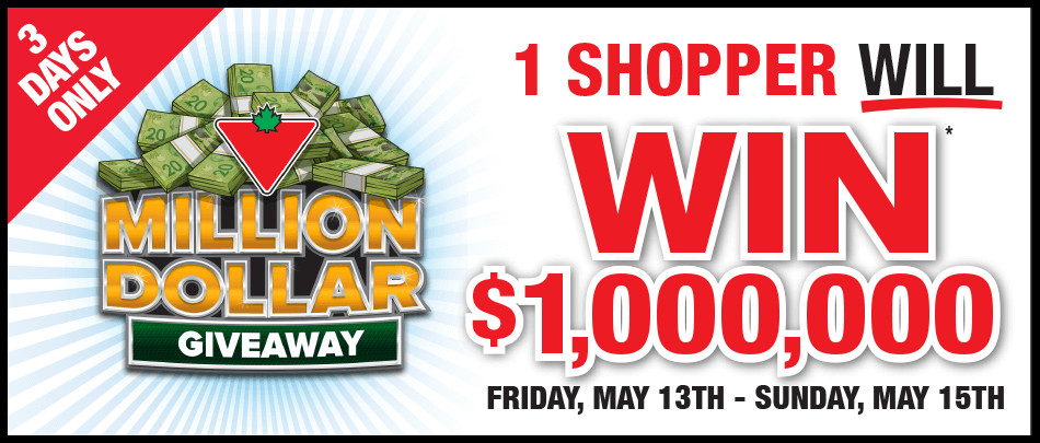 Milliondollargiveaway Canadiantire Ca One Million Dollar