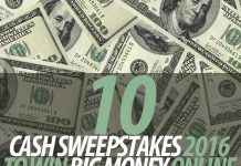 Cash Sweepstakes 2016