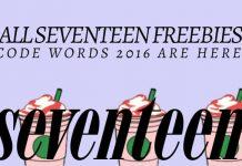 Seventeen Freebie Codes 2016