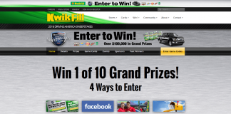 KwikFill.com Driving America Sweepstakes 2016