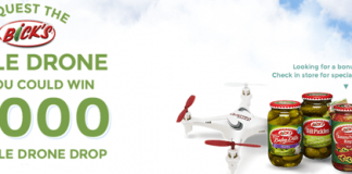 Bicks.ca/PickleDrone: Bick's Finds Your Burger Sweepstakes