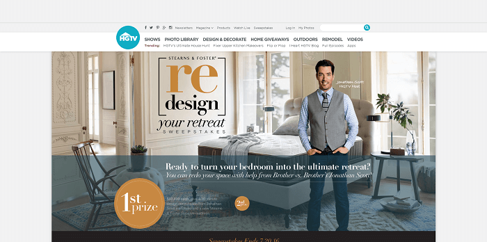 Redesign Your Retreat Sweepstakes