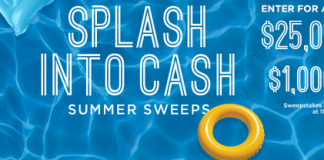 Culvers.com/Splash - Into Cash Summer Sweepstakes 2016