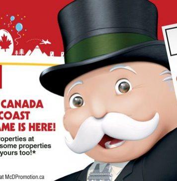 McDonalds Monopoly Canada 2017