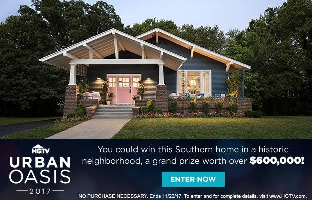 HGTV Urban Oasis Giveaway: The One Detail You May Have Missed