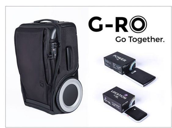 G-Ro Carry-On Luggage & Power and Tracking Device