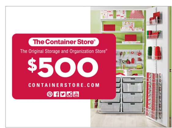 $500 The Container Store Gift Card
