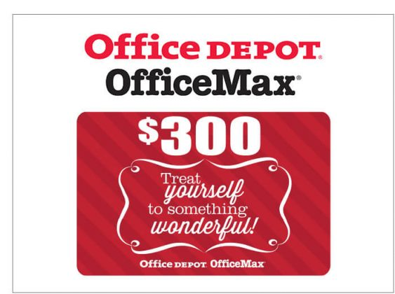 $300 Office Depot/Office Max Gift Card