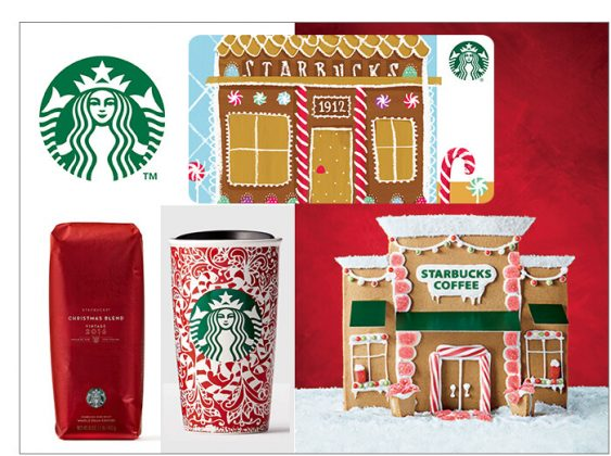 $250 Starbucks Gift Card, Gingerbread Café, Double Wall Tumbler and Christmas Blend Coffee