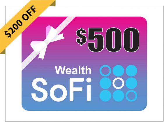 $500 in a SoFi Wealth Account