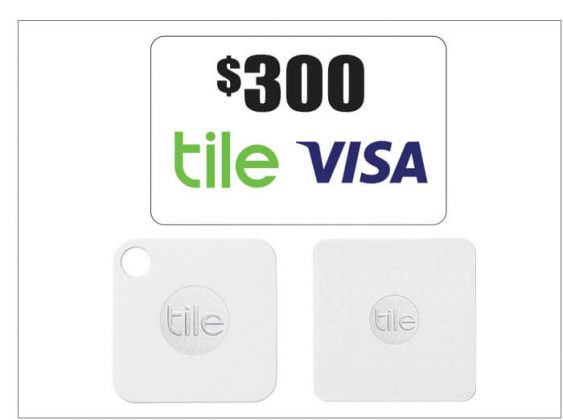 Tile 4-Pack + $300 Visa Gift Card