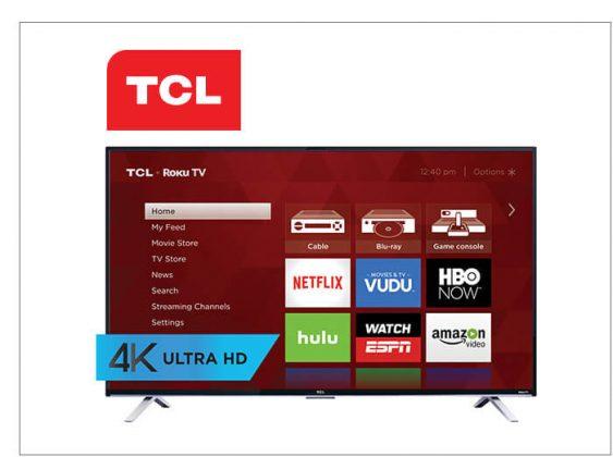 """55"""" 4K TCL Roku TV"""
