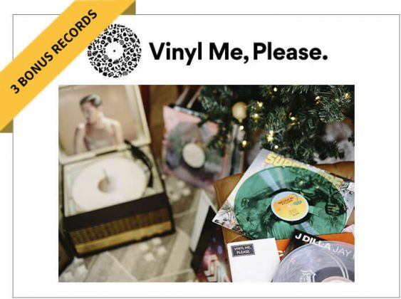 Vinyl Me, Please 1-Year Membership and 3 Records