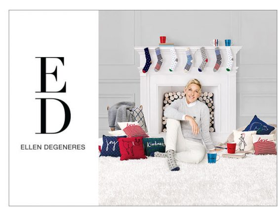 ED Ellen DeGeneres Holiday Mugs, Throws and Pillows