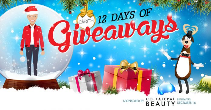 Ellentv 12 days christmas giveaway