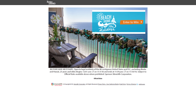 BHG Beach Home For The Holidays Sweepstakes