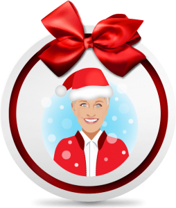 watch the ellen degeneres show every day between november 21st and december 6th weekdays only and look for ellens holiday emoji on the screen