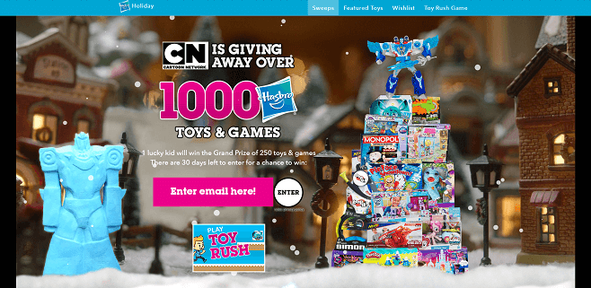 Cartoon Network Holiday Sweepstakes