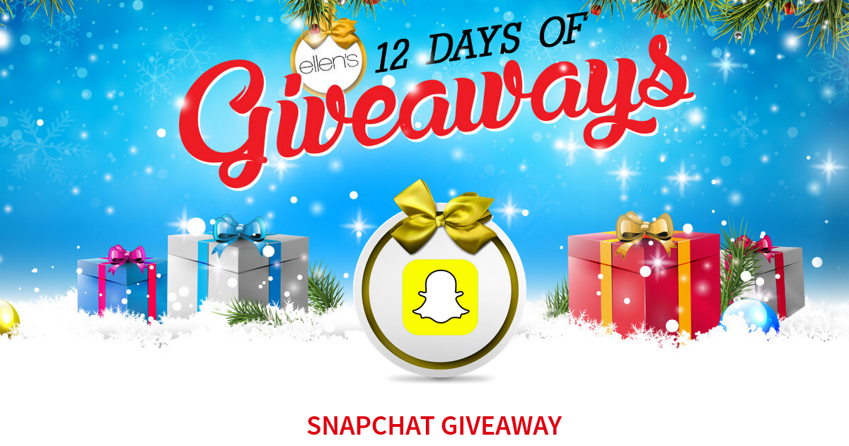 ELLEN 12 DAYS OF GIVEAWAYS CODE WORDS