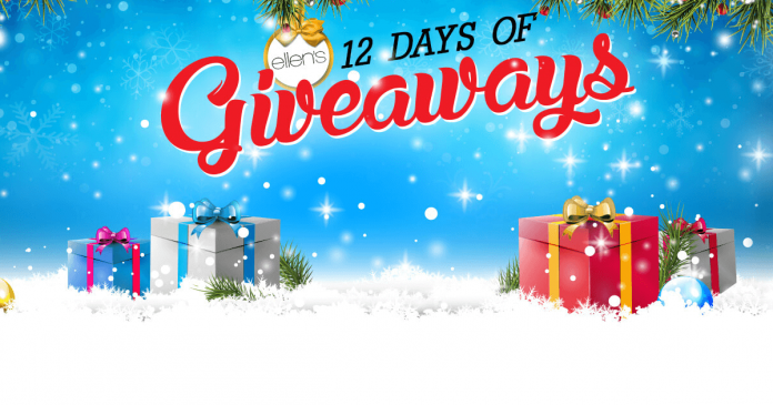 Ellen tv 12 days of christmas giveaways