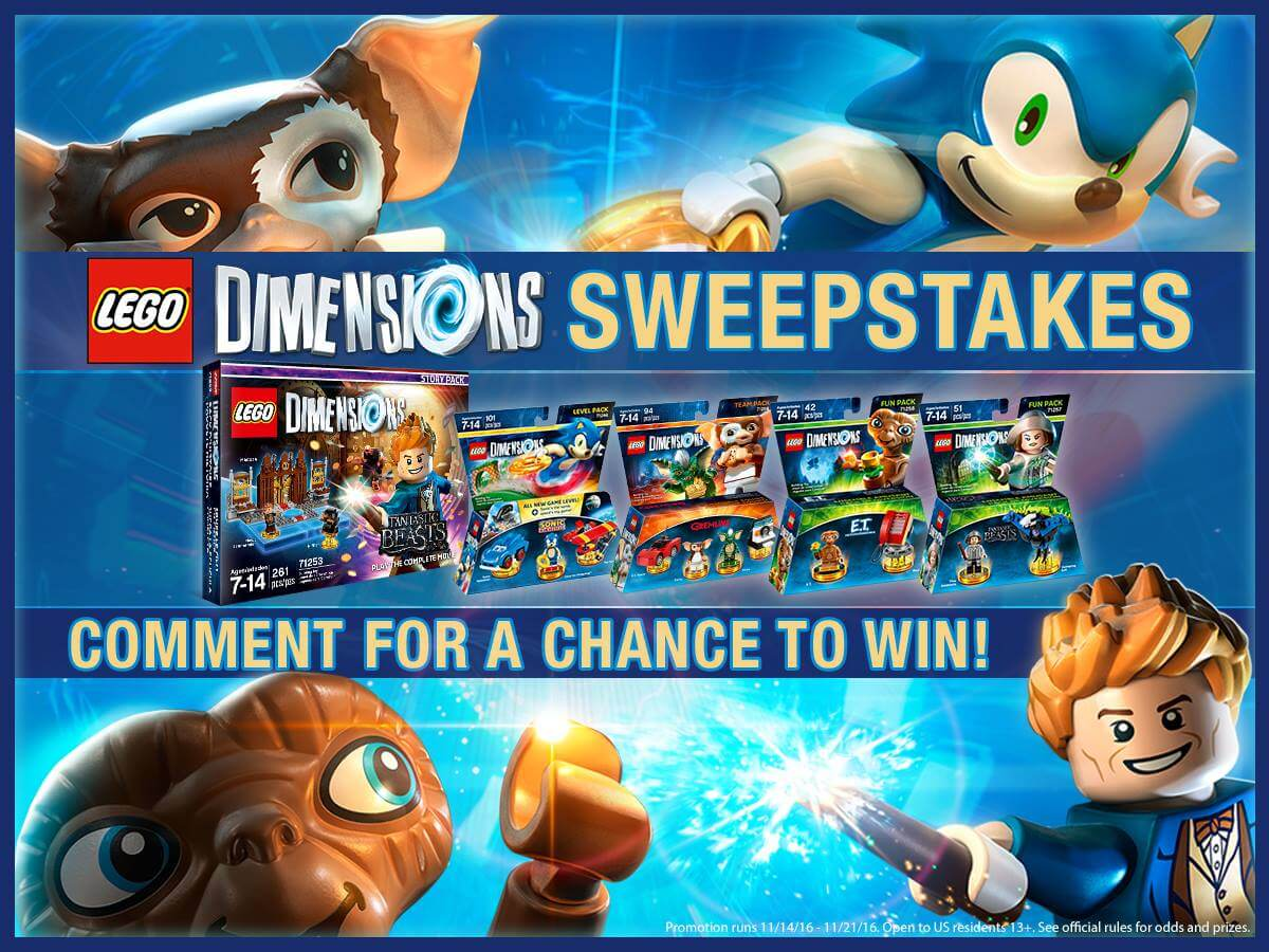 Lego Dimensions Sweepstakes Wave 7 Launch Countdown Giveaway
