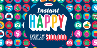 Old Navy 100K Giveaway (OldNavy.com/RedeemHappy)