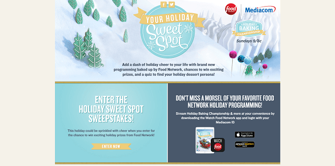 Food Network Your Holiday Sweet Spot Sweepstakes