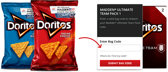 Enter Doritos Madden 17 Code