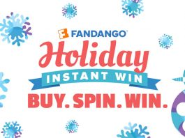 Fandango Holiday Instant Win 2016