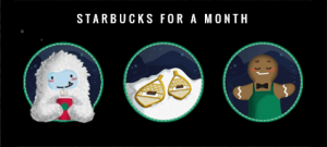 Starbucks For A Month Game Pieces