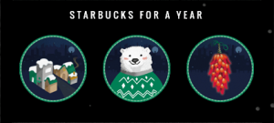 Starbucks For A Year Game Pieces