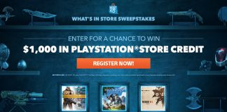 PlayStation What's In Store Sweepstakes 2017