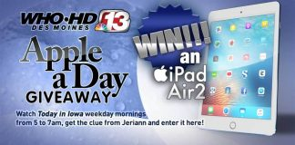 Channel 13's Apple A Day Giveaway 2017