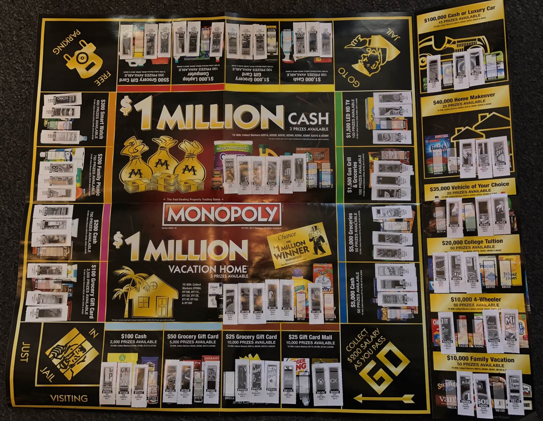 Filled Monopoly Game Board 2017