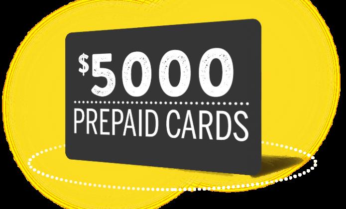 $5,000 Prepaid card