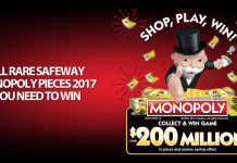 Rare Safeway Monopoly Pieces 2017
