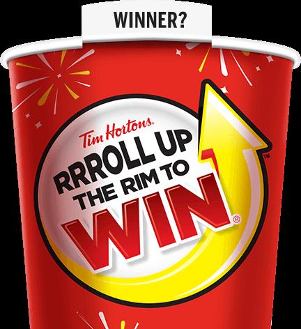 Tim Horton Roll Up The Rim 2017 Winning Cup