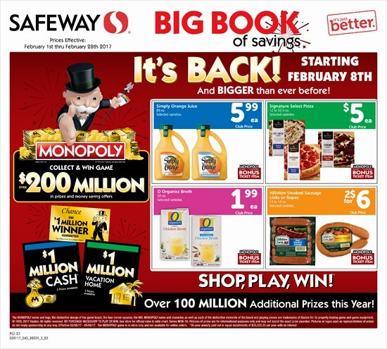 safeway monopoly sweepstakes monopoly game at safeway is back starting on february 8th 6975