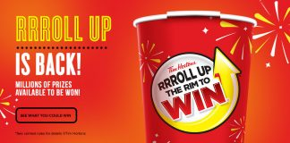 Tim Hortons Roll Up The Rim 2017 (RollUpTheRimToWin.com)
